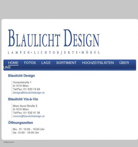 Blaulicht Design Lampen Lichtobjekte Mobel Gesellschaft M B H