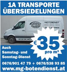 MG-Botendienst/Transport /Umzug in Wien und Umgebung