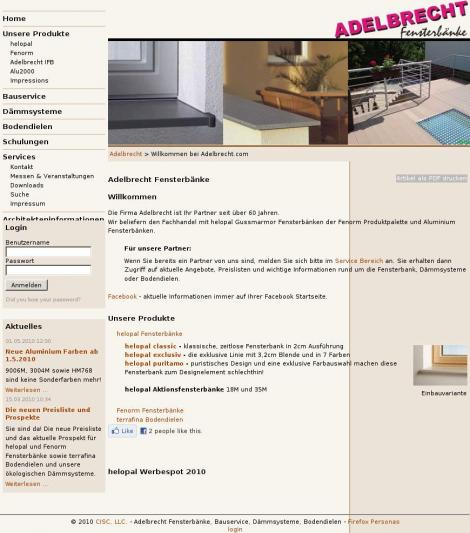 Adelbrecht helopal Fensterbänke • Sattendorf • Kärnten • adelbrecht.com