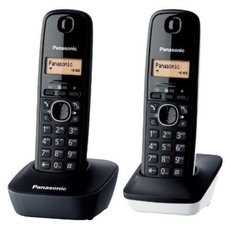 Kabelloses Telefon Panasonic KX-TG1612SP1 Schwarz Weiß
