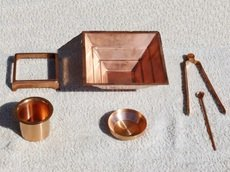 Agnihotra Set 6teilig Kupfer