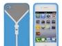Reißverschluss Silikonhülle für iPhone