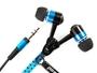 Omega Zipper Ohrhörer ZIPPY blau