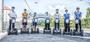 Segway Gruppe auf der Hauptbrücke